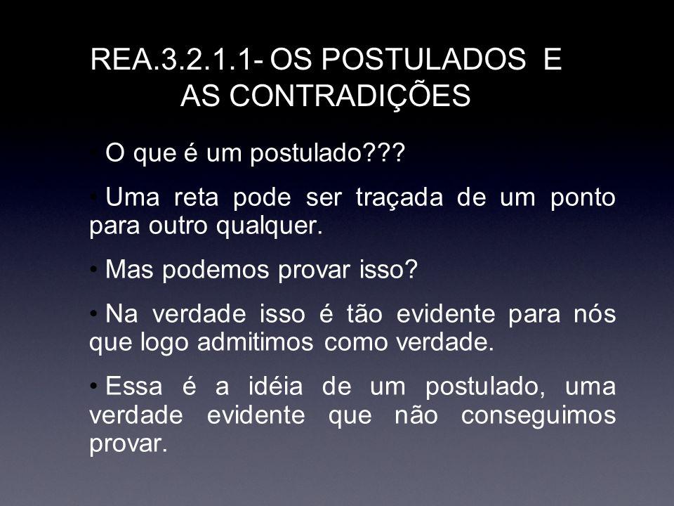 REA.3.2.1.1- OS POSTULADOS E AS CONTRADIÇÕES