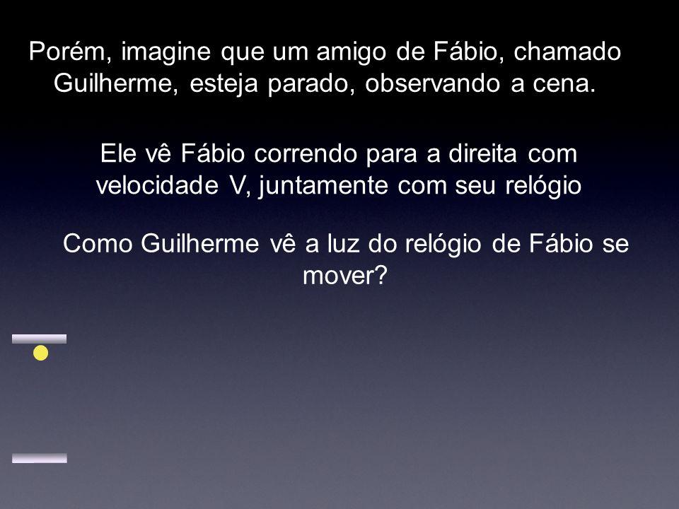 Como Guilherme vê a luz do relógio de Fábio se mover