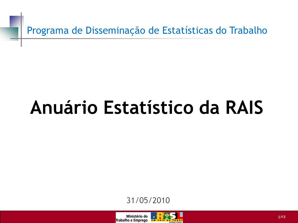 Anuário Estatístico da RAIS