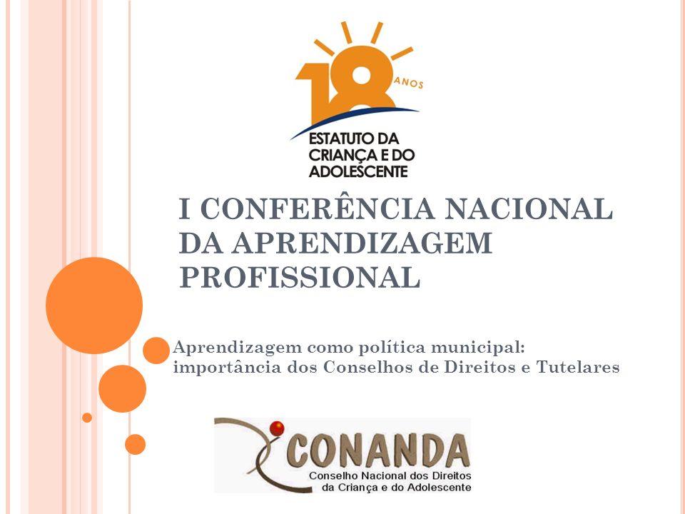 I CONFERÊNCIA NACIONAL DA APRENDIZAGEM PROFISSIONAL