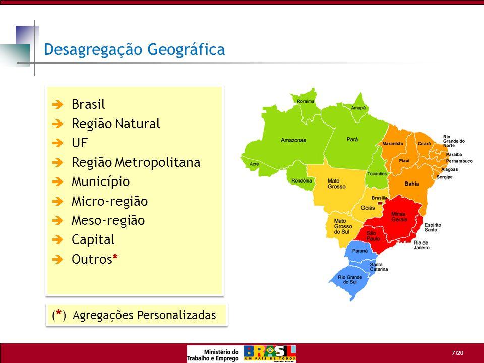 Desagregação Geográfica