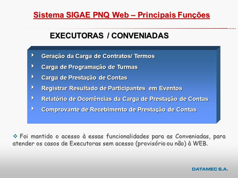 EXECUTORAS / CONVENIADAS