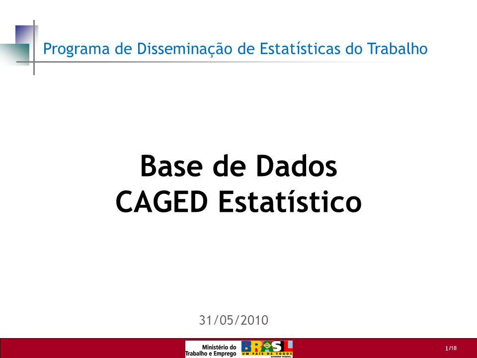 Base de Dados CAGED Estatístico