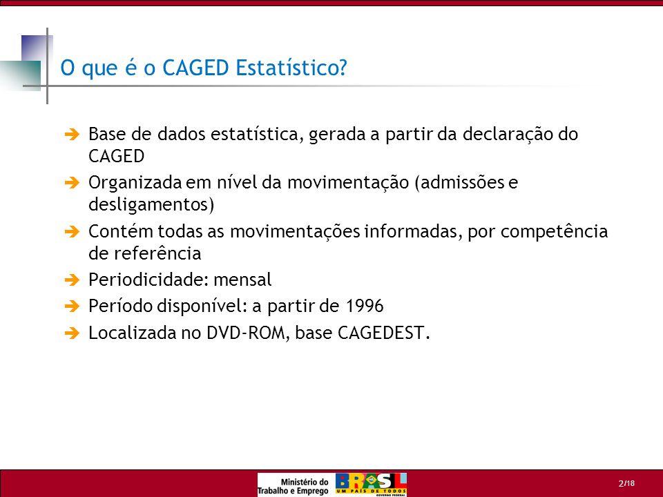 O que é o CAGED Estatístico