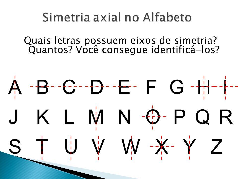 Simetria axial no Alfabeto