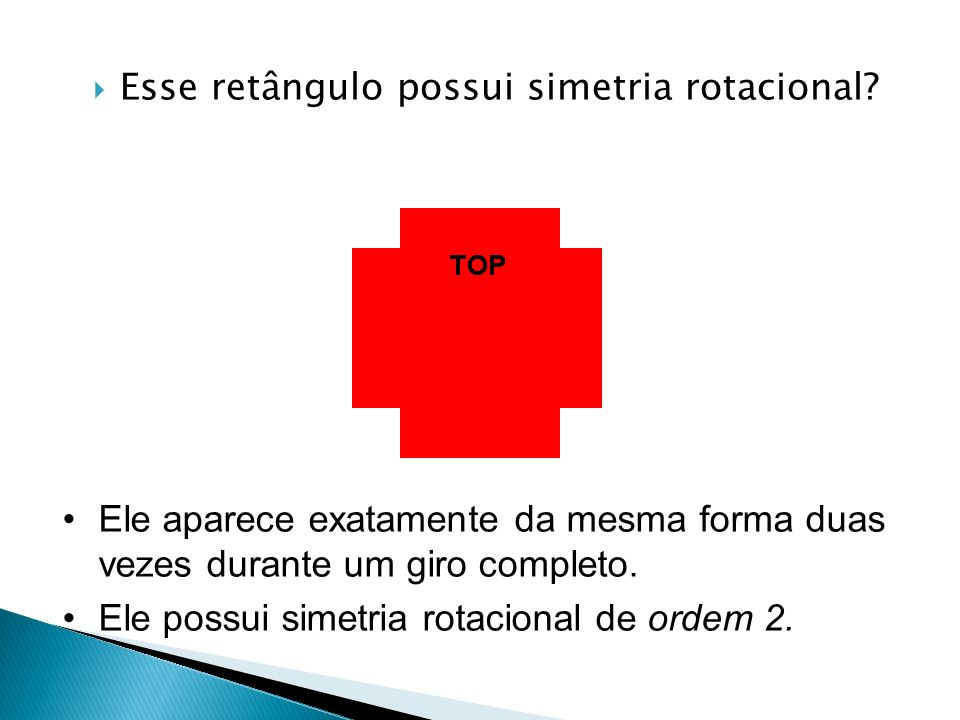 Esse retângulo possui simetria rotacional