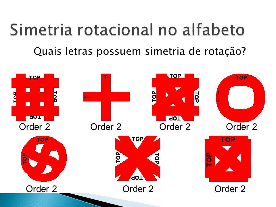 Simetria rotacional no alfabeto