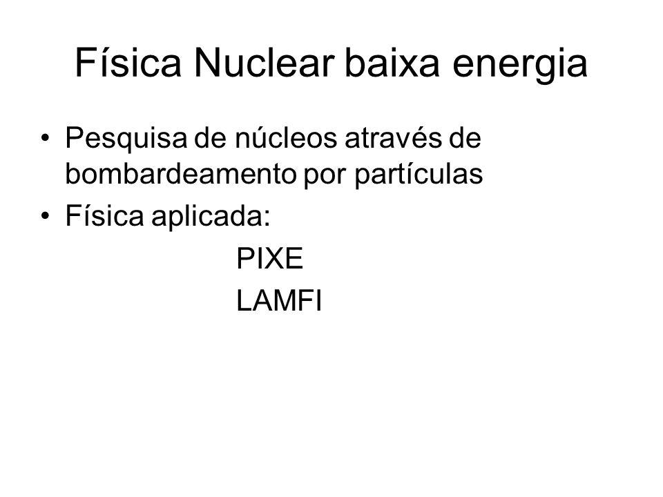 Física Nuclear baixa energia