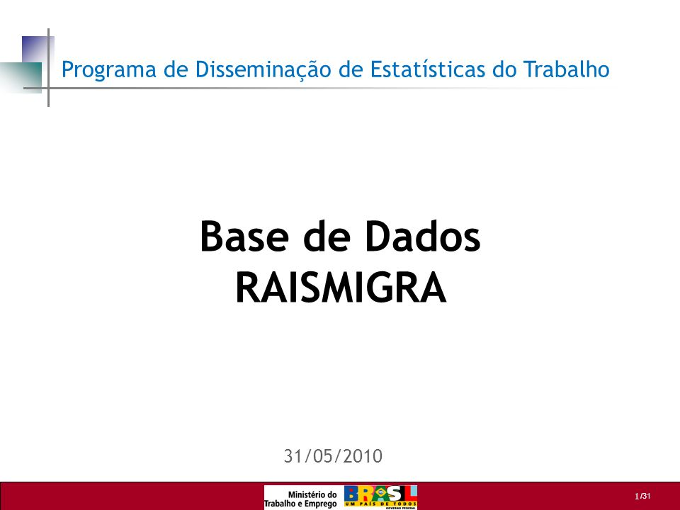 Base de Dados RAISMIGRA