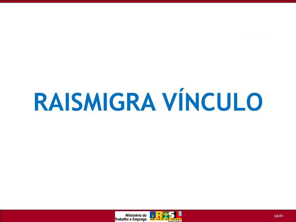 RAISMIGRA VÍNCULO