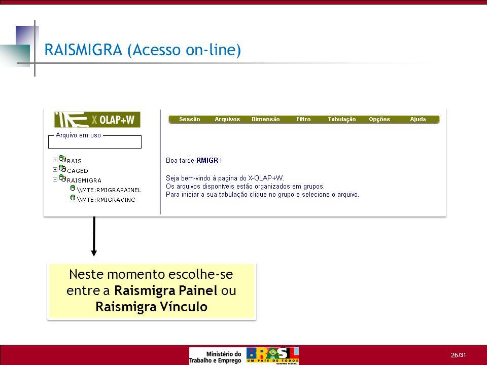 RAISMIGRA (Acesso on-line)