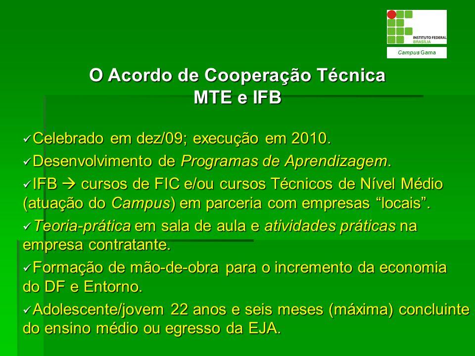 O Acordo de Cooperação Técnica