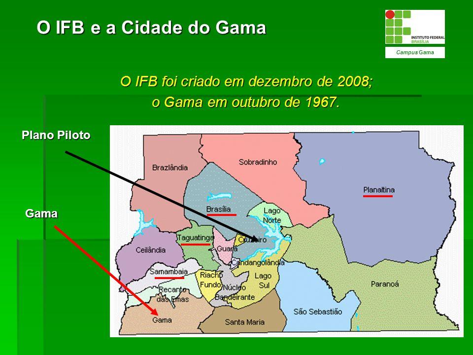 O IFB foi criado em dezembro de 2008;