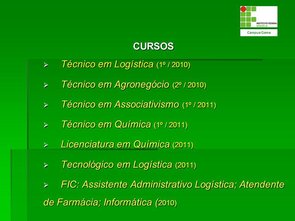 Técnico em Logística (1º / 2010) Técnico em Agronegócio (2º / 2010)