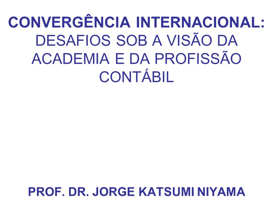 PROF. DR. JORGE KATSUMI NIYAMA