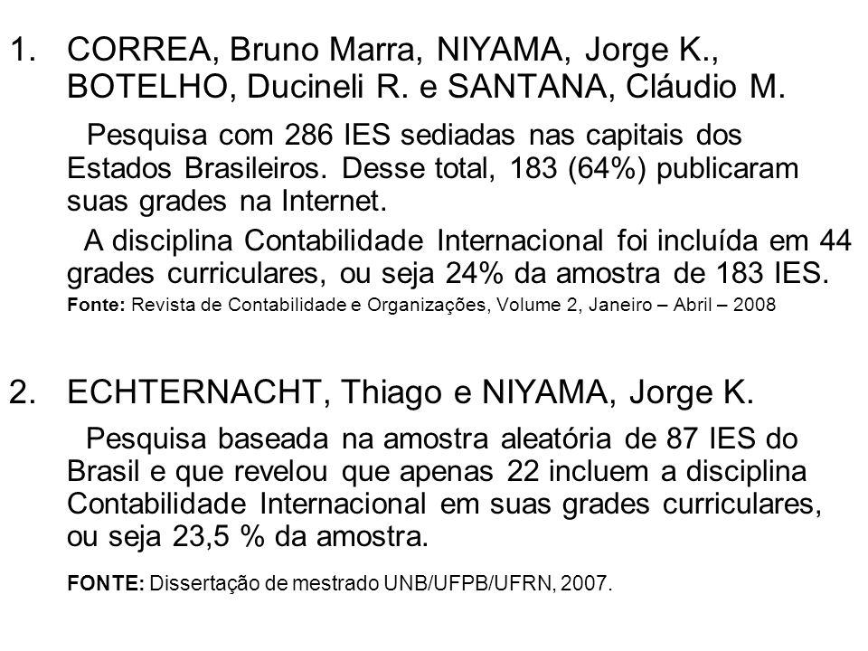 CORREA, Bruno Marra, NIYAMA, Jorge K. , BOTELHO, Ducineli R