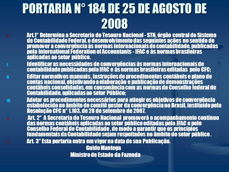 PORTARIA N° 184 DE 25 DE AGOSTO DE 2008