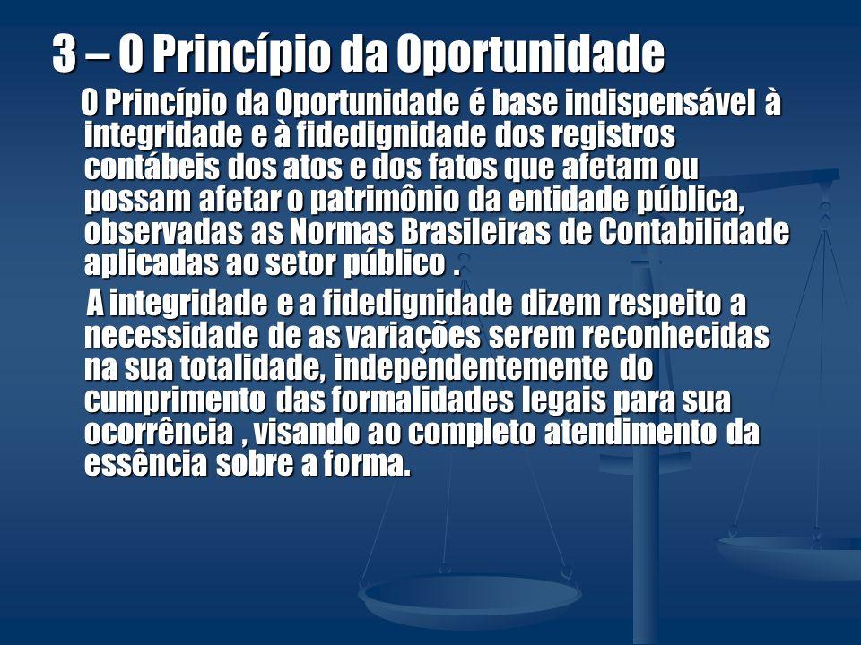 3 – O Princípio da Oportunidade