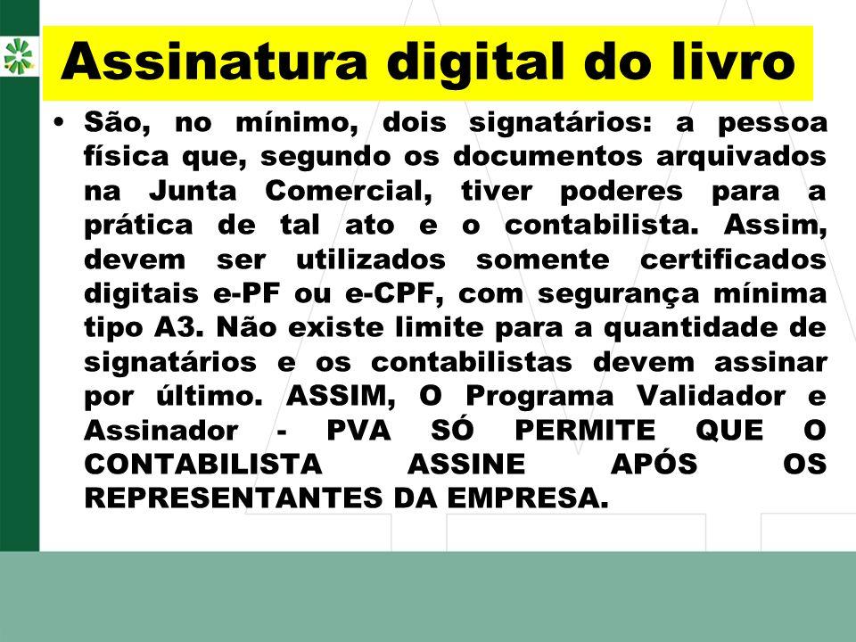 Assinatura digital do livro