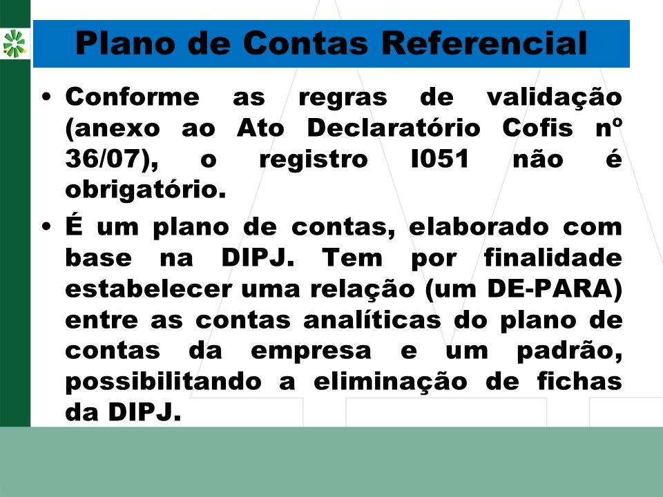 Plano de Contas Referencial