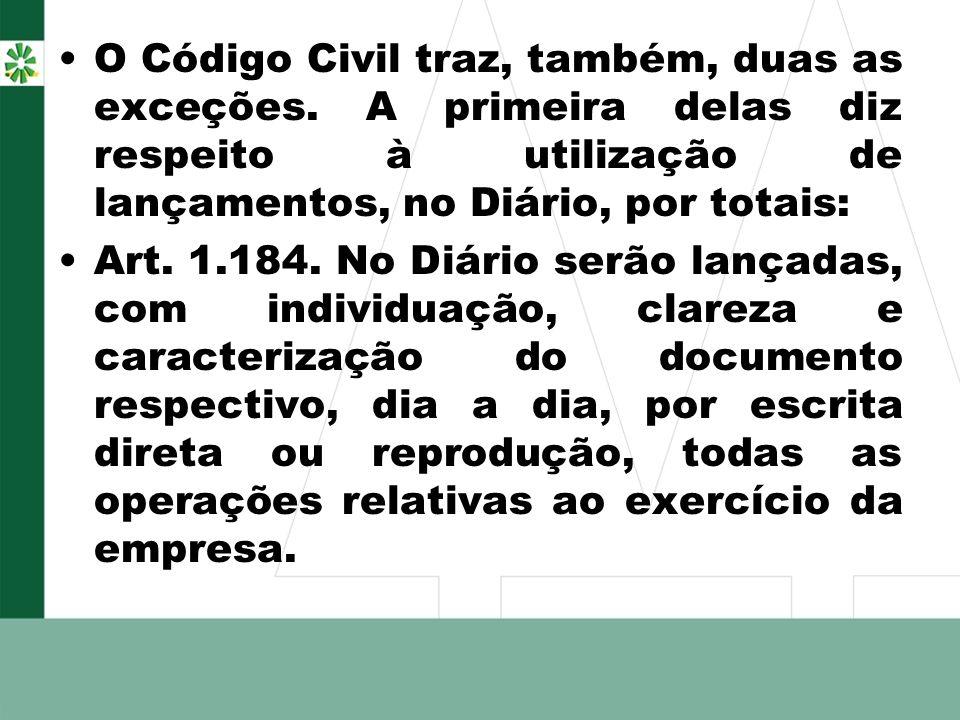 O Código Civil traz, também, duas as exceções