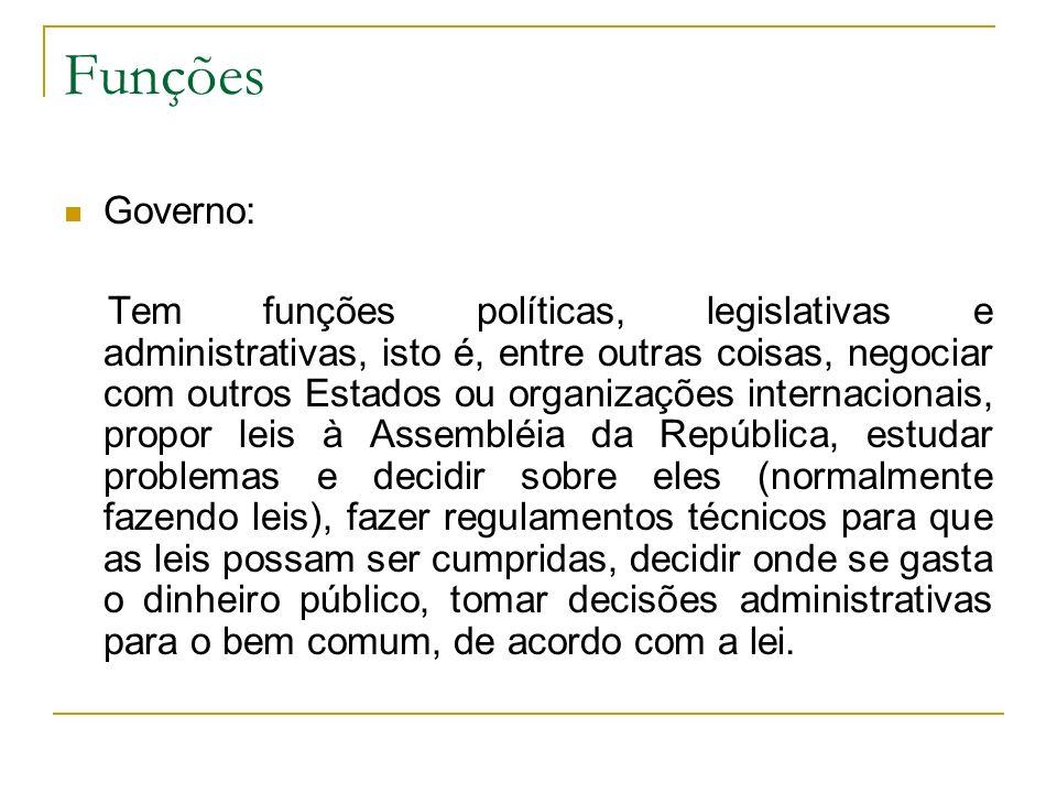 Funções Governo: