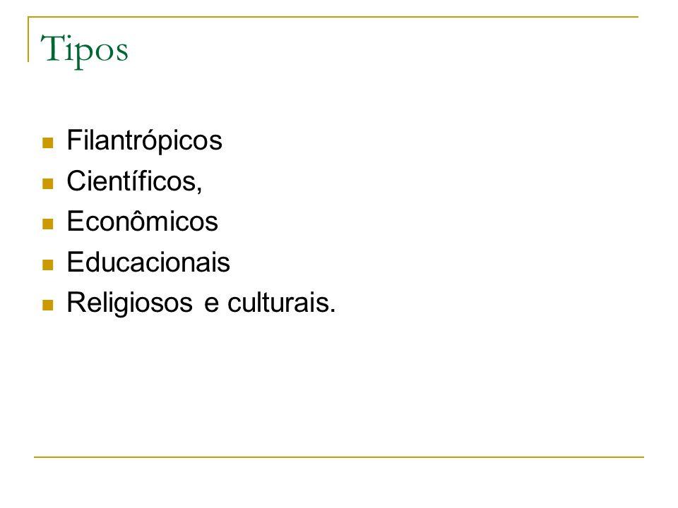 Tipos Filantrópicos Científicos, Econômicos Educacionais