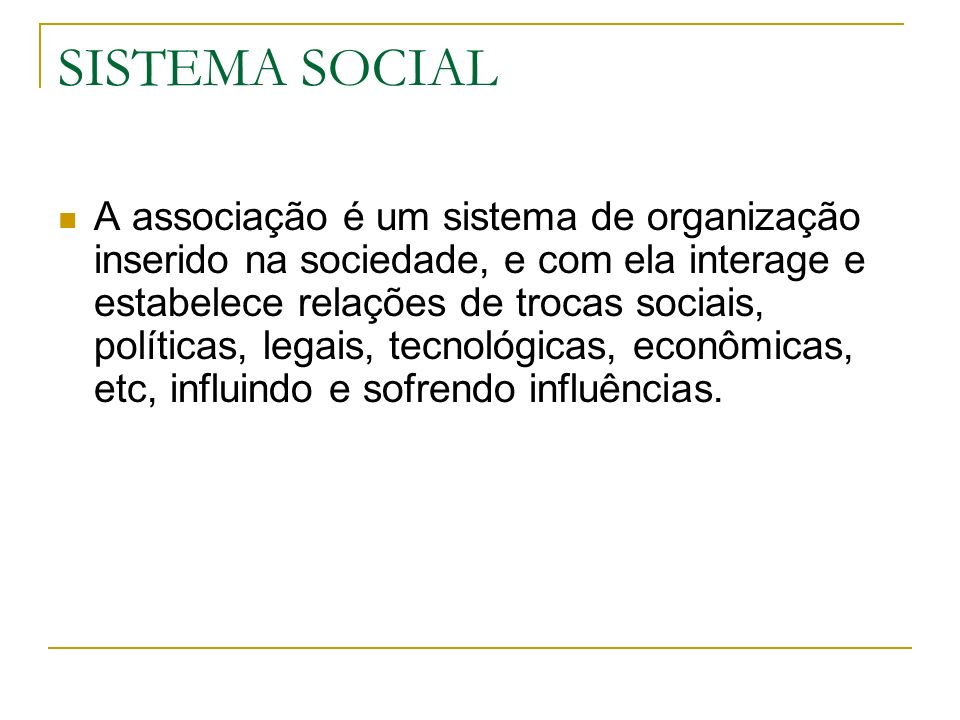 SISTEMA SOCIAL
