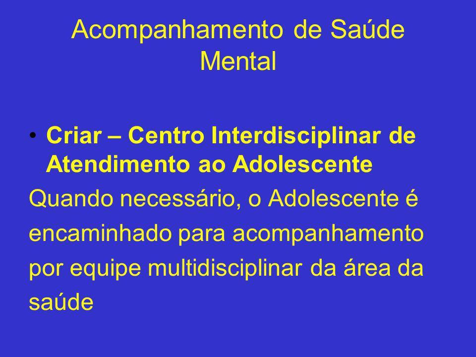 Acompanhamento de Saúde Mental
