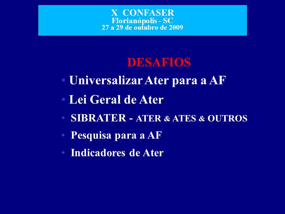 Universalizar Ater para a AF Lei Geral de Ater