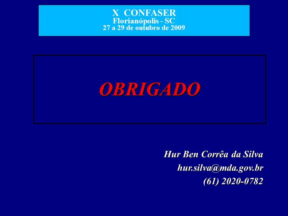 OBRIGADO Hur Ben Corrêa da Silva hur.silva@mda.gov.br (61) 2020-0782