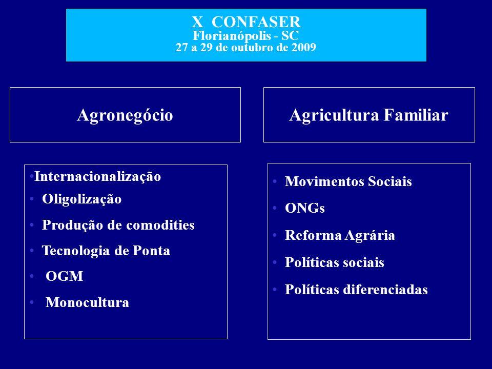 Agronegócio Agricultura Familiar