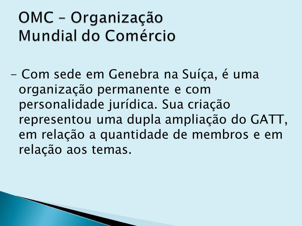 OMC – Organização Mundial do Comércio