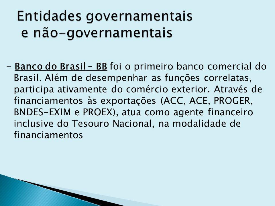 Entidades governamentais e não-governamentais