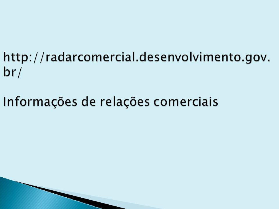 http://radarcomercial. desenvolvimento. gov