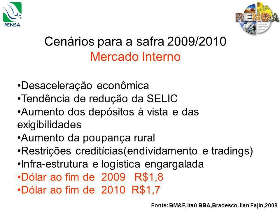 Cenários para a safra 2009/2010 Mercado Interno