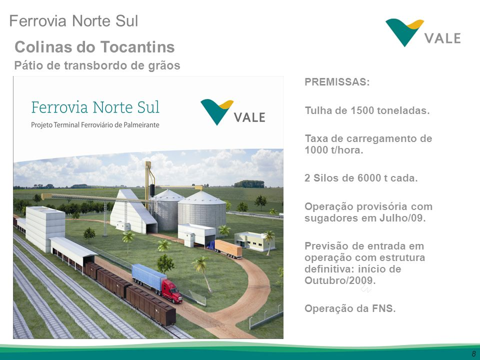 Ferrovia Norte Sul Colinas do Tocantins Pátio de transbordo de grãos