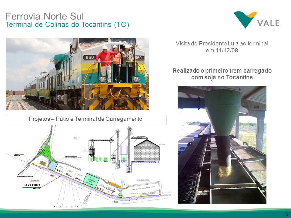Realizado o primeiro trem carregado com soja no Tocantins