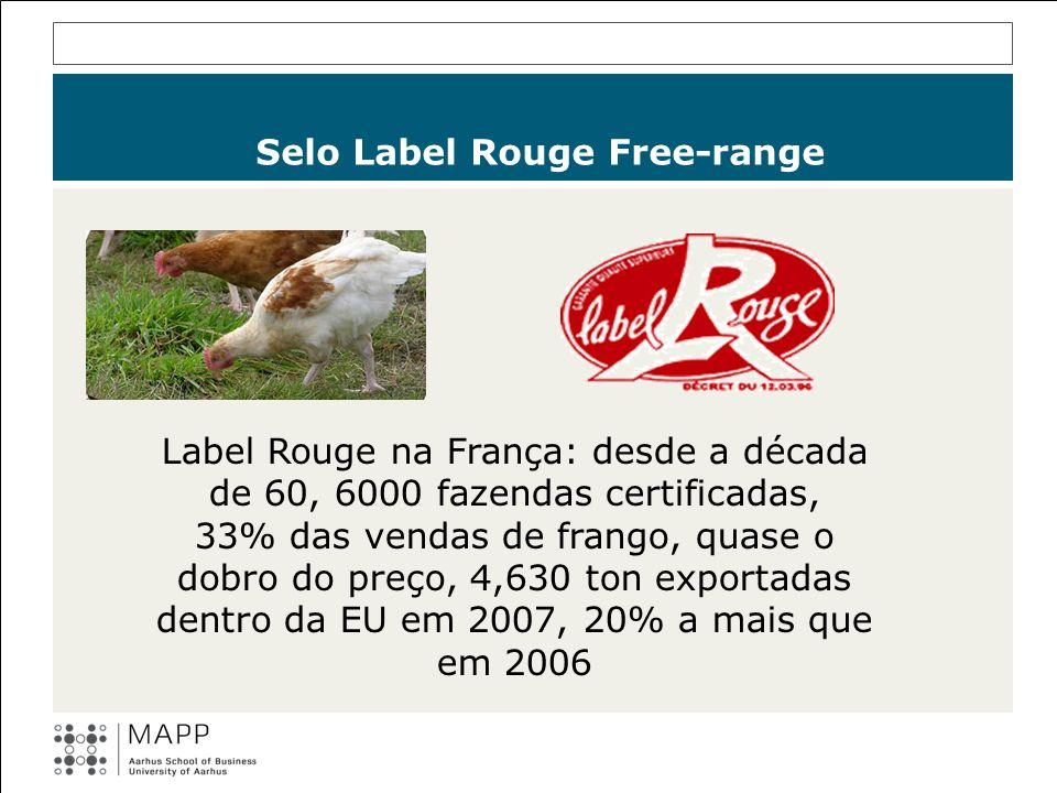 Selo Label Rouge Free-range