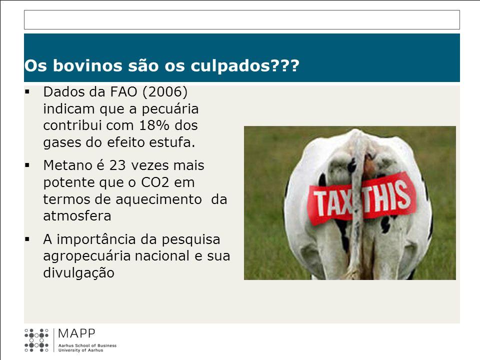 Os bovinos são os culpados