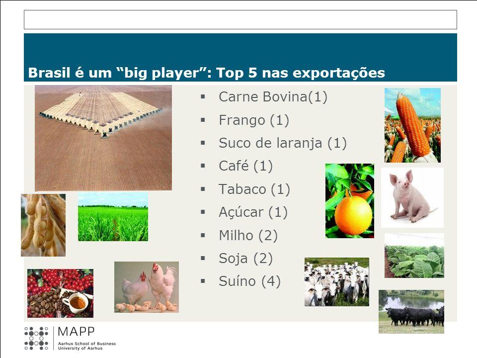 Brasil é um big player : Top 5 nas exportações