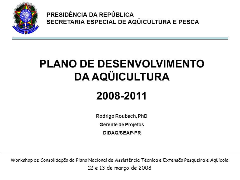PLANO DE DESENVOLVIMENTO DA AQÜICULTURA