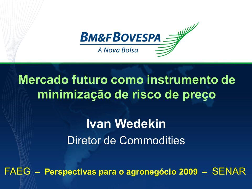 Mercado futuro como instrumento de minimização de risco de preço