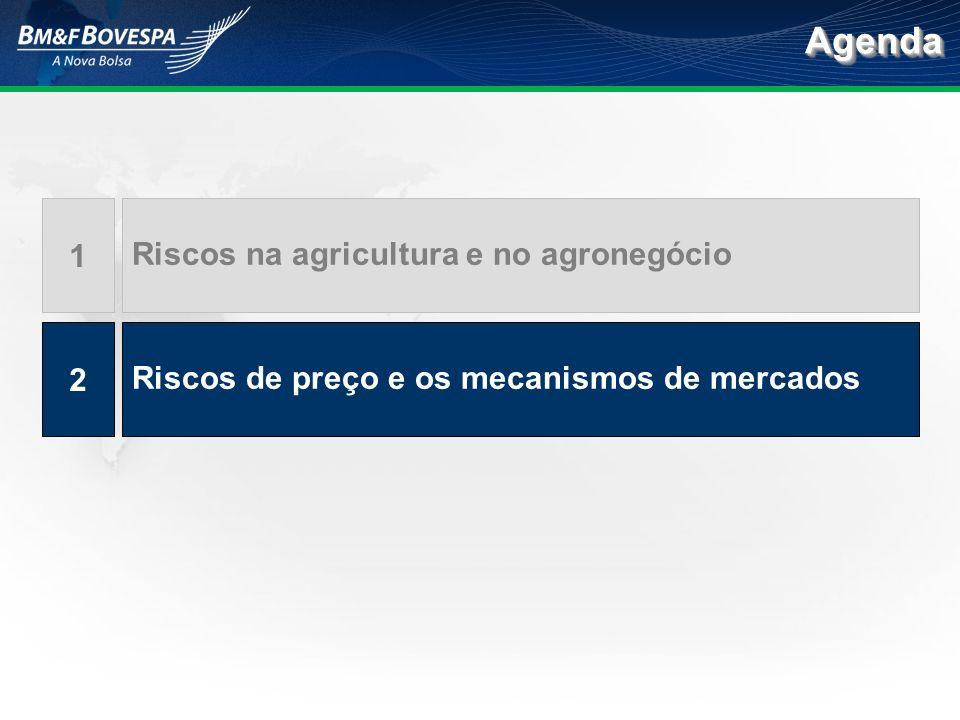 Agenda 1 Riscos na agricultura e no agronegócio 2
