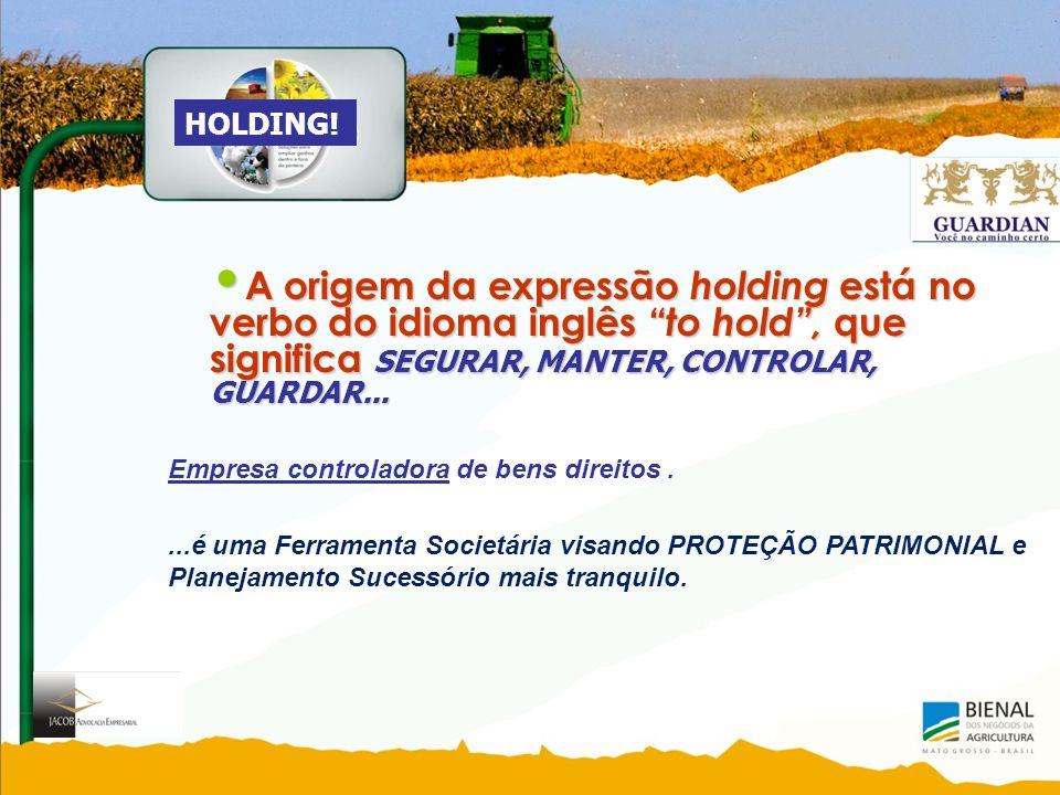 HOLDING! A origem da expressão holding está no verbo do idioma inglês to hold , que significa SEGURAR, MANTER, CONTROLAR, GUARDAR...