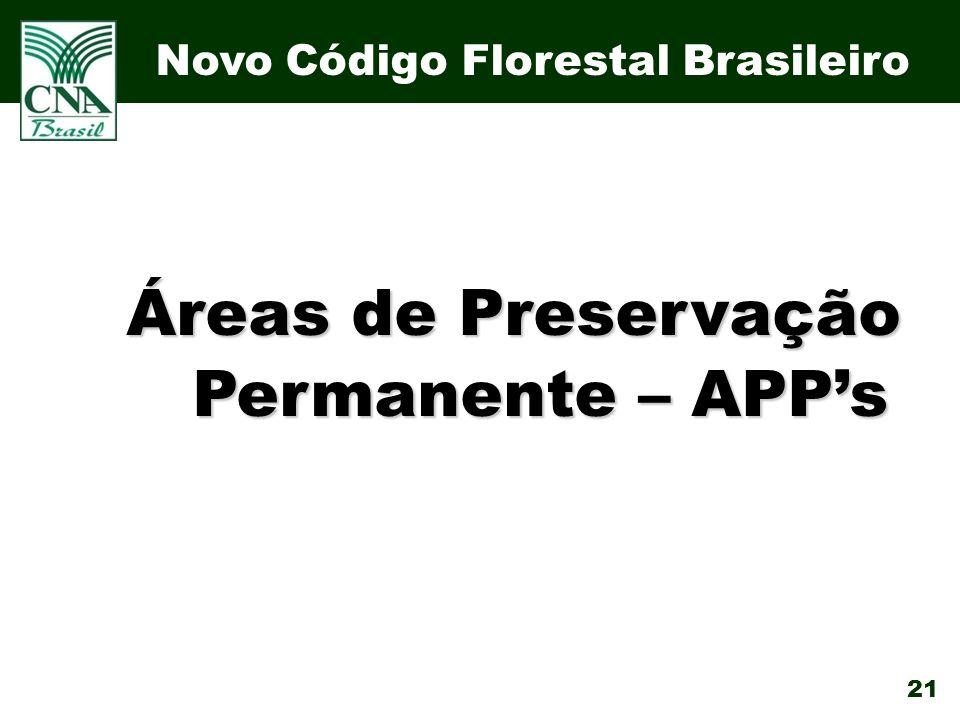 Áreas de Preservação Permanente – APP's