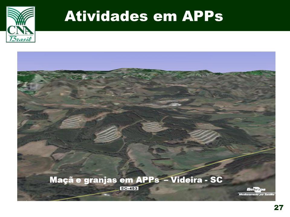 Maçã e granjas em APPs – Videira - SC