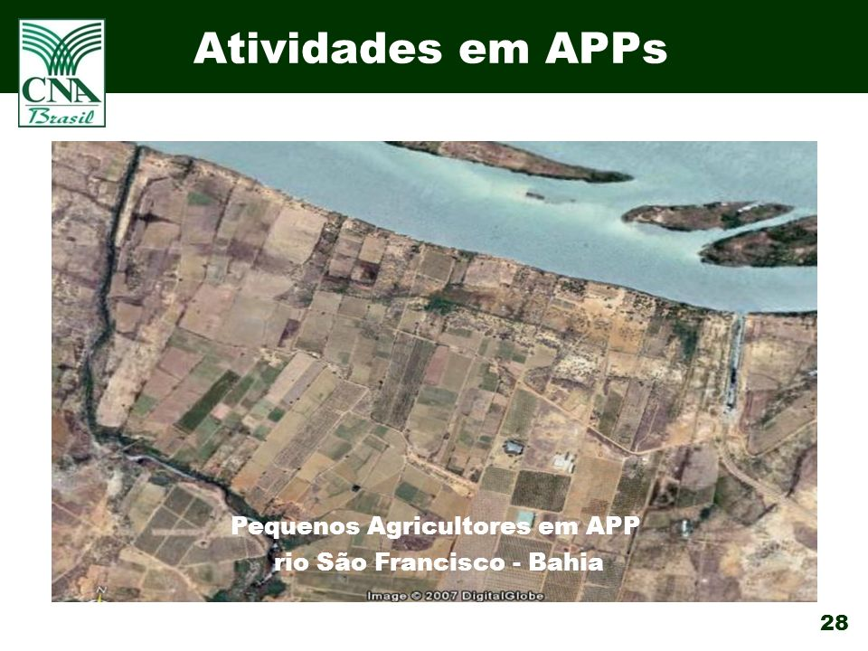 Atividades em APPs Pequenos Agricultores em APP