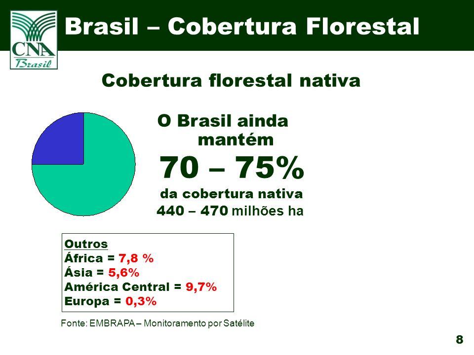 Cobertura florestal nativa