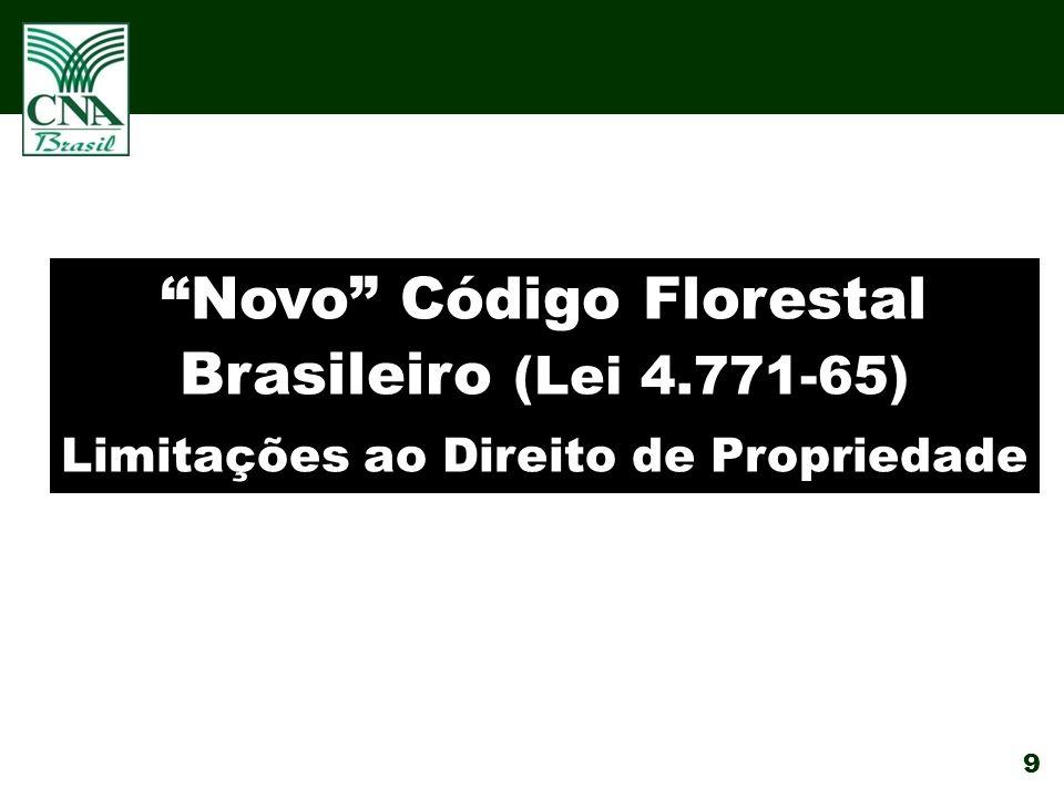 Novo Código Florestal Brasileiro (Lei 4.771-65)